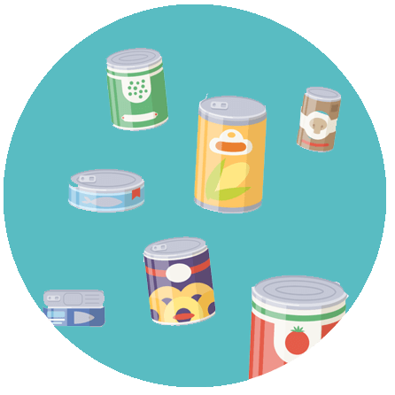 floating cans icon